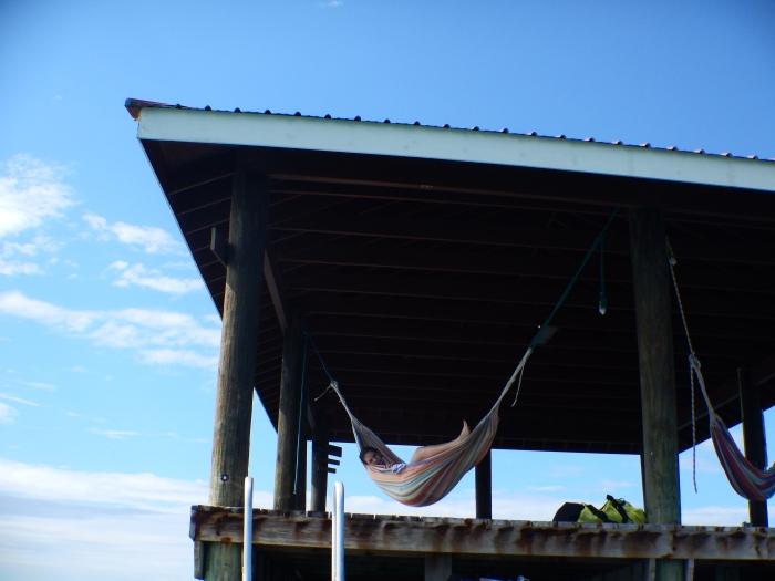 Extreme hammocking.
