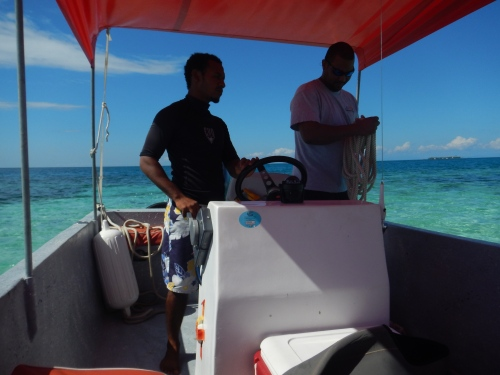 Daniel and Sean taking us to the dive site.