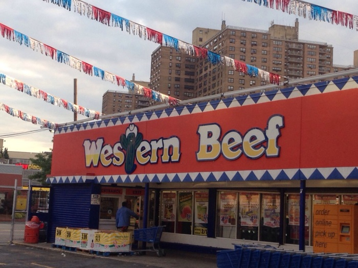 Does it or does it not say BEEF right there on the sign?
